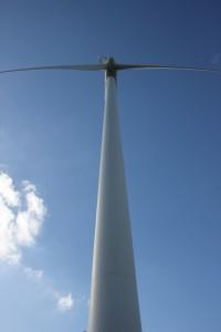 Windkraftanlage, gefördert vom Staat
