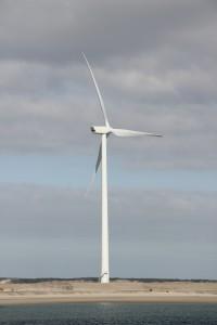 Windkraftanlage für Windenergie - mit Fördermitteln gebaut